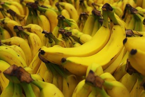 Bunch of Fresh Yellow Banana Fruits