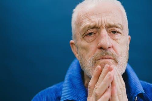 Elderly Man in Close-Up