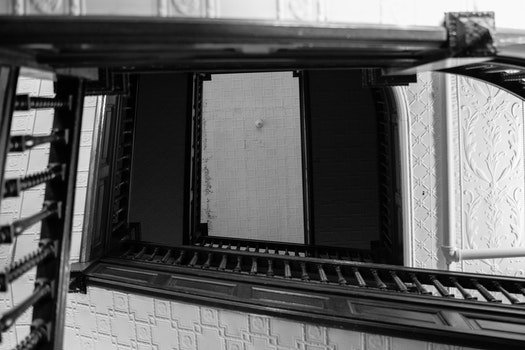 Free stock photo of building, architecture, white, black