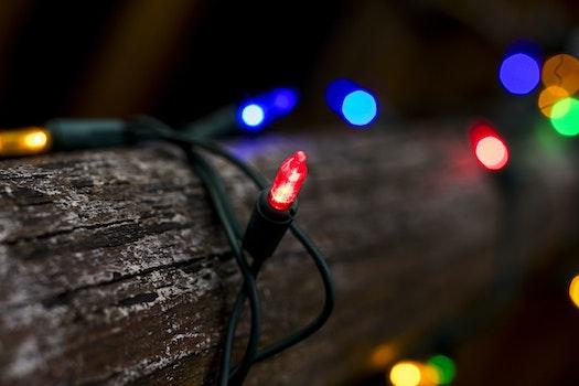 Tilt Shift Lens Photography of String Lights