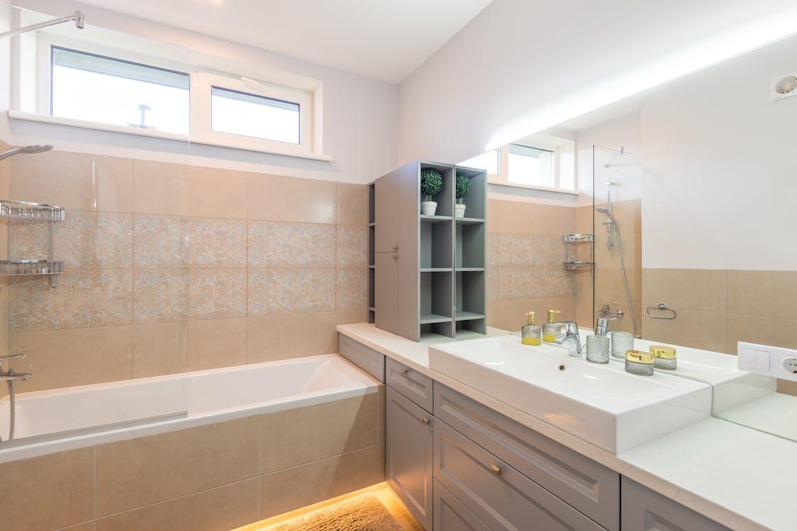 A Beautiful Interior of a Bathroom