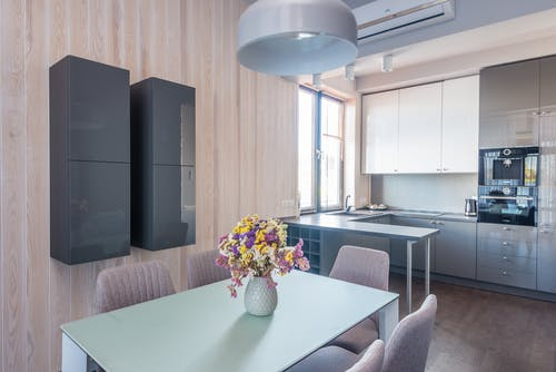 A Modern Design Dining and Kitchen Area