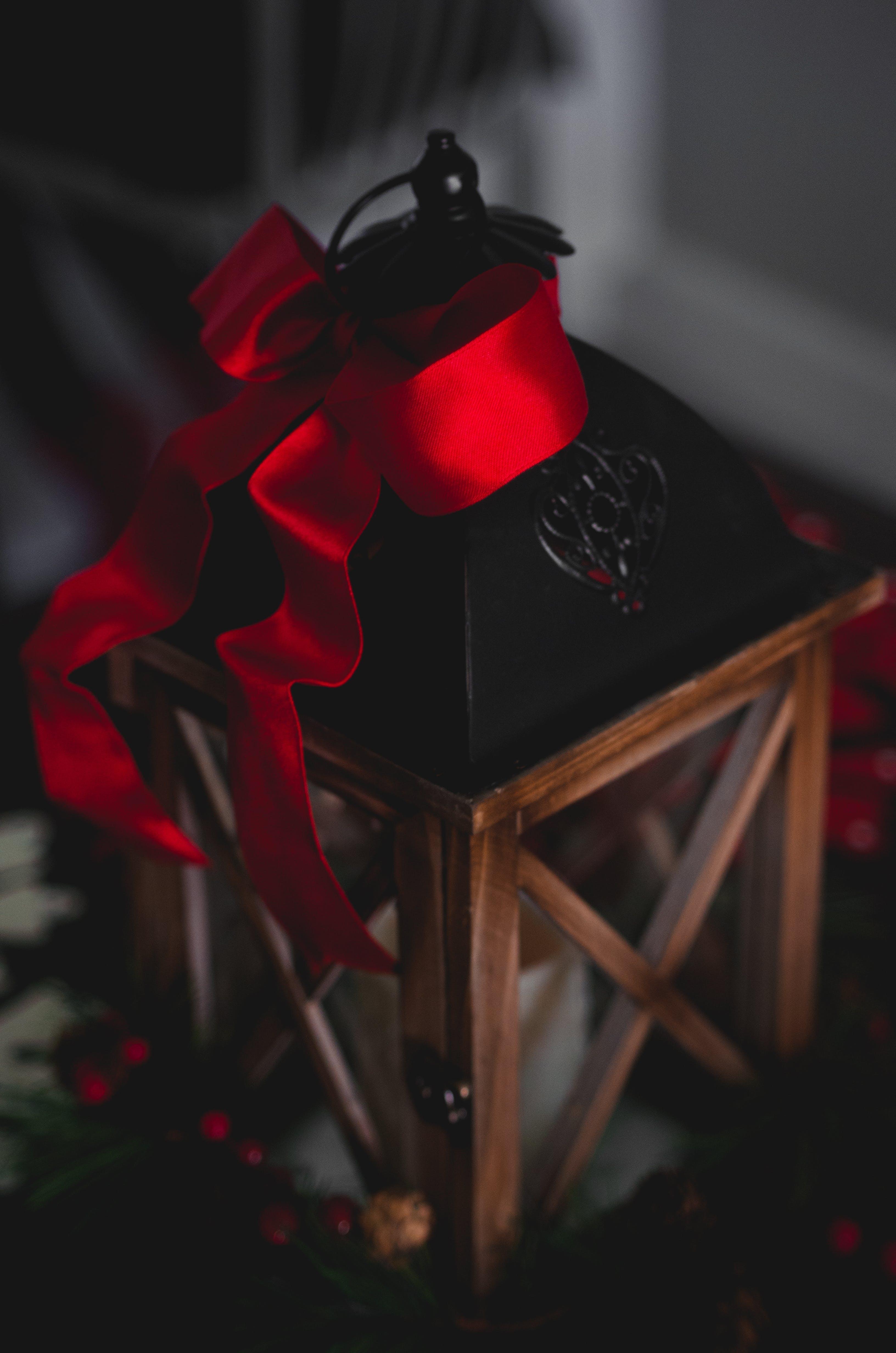 Brown and Black Hanging Lantern