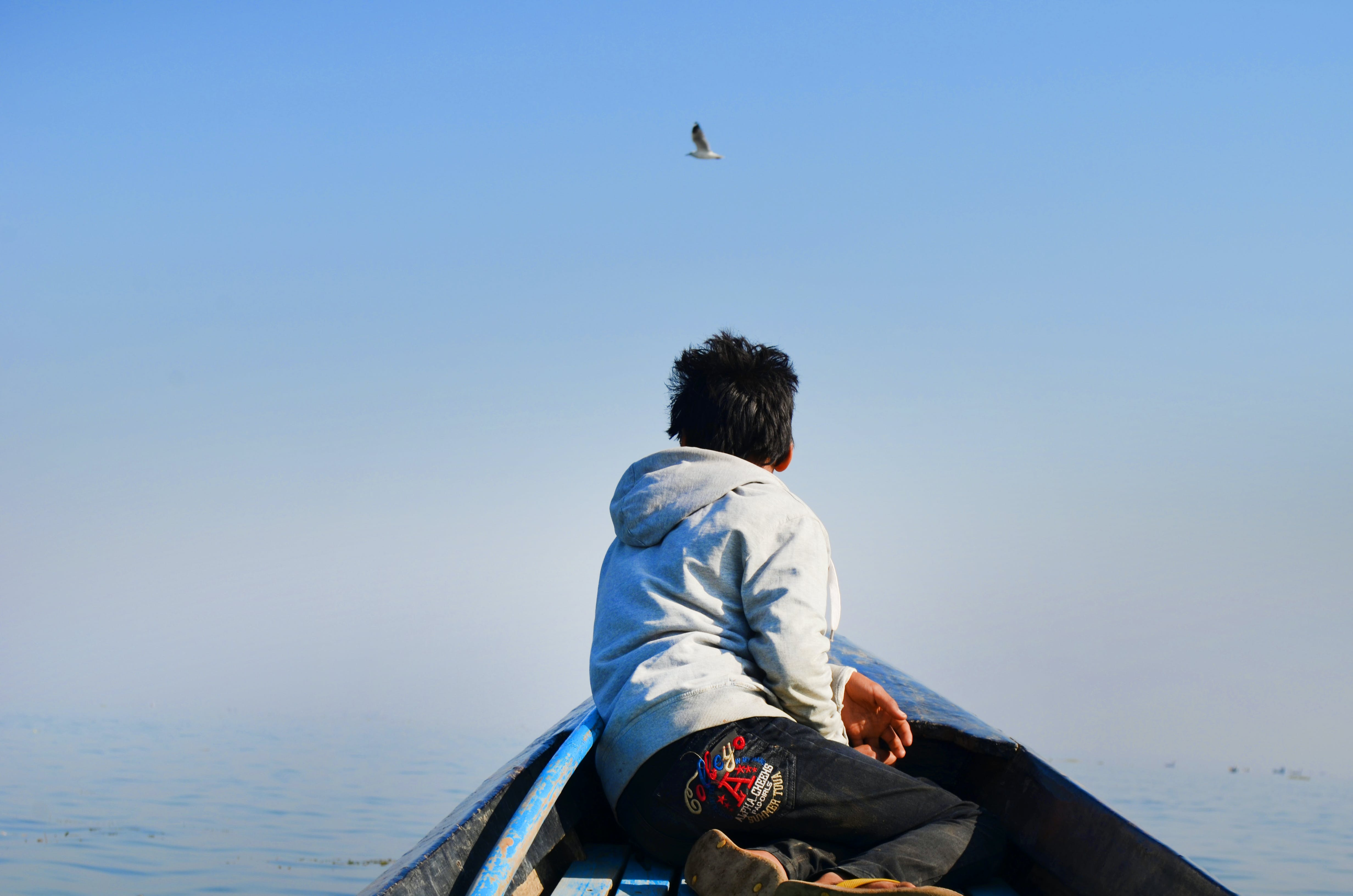 Foto profissional grátis de água, barco, barco de pesca, casaco com capuz