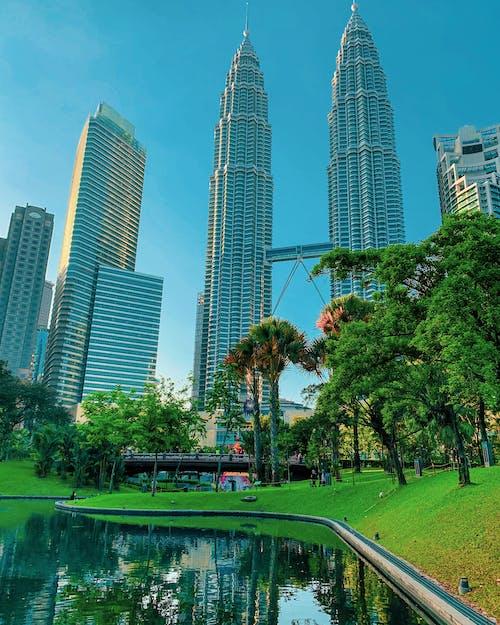 KLCC Park Across the Famous Petronas Twin Towers