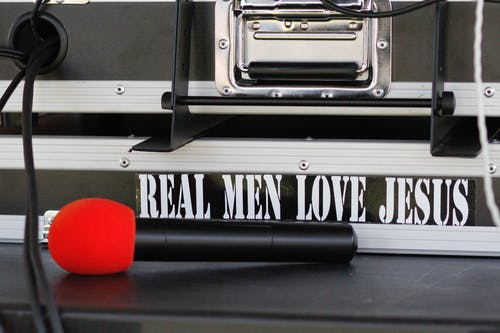 Free stock photo of bumper sticker, jesus, microphone