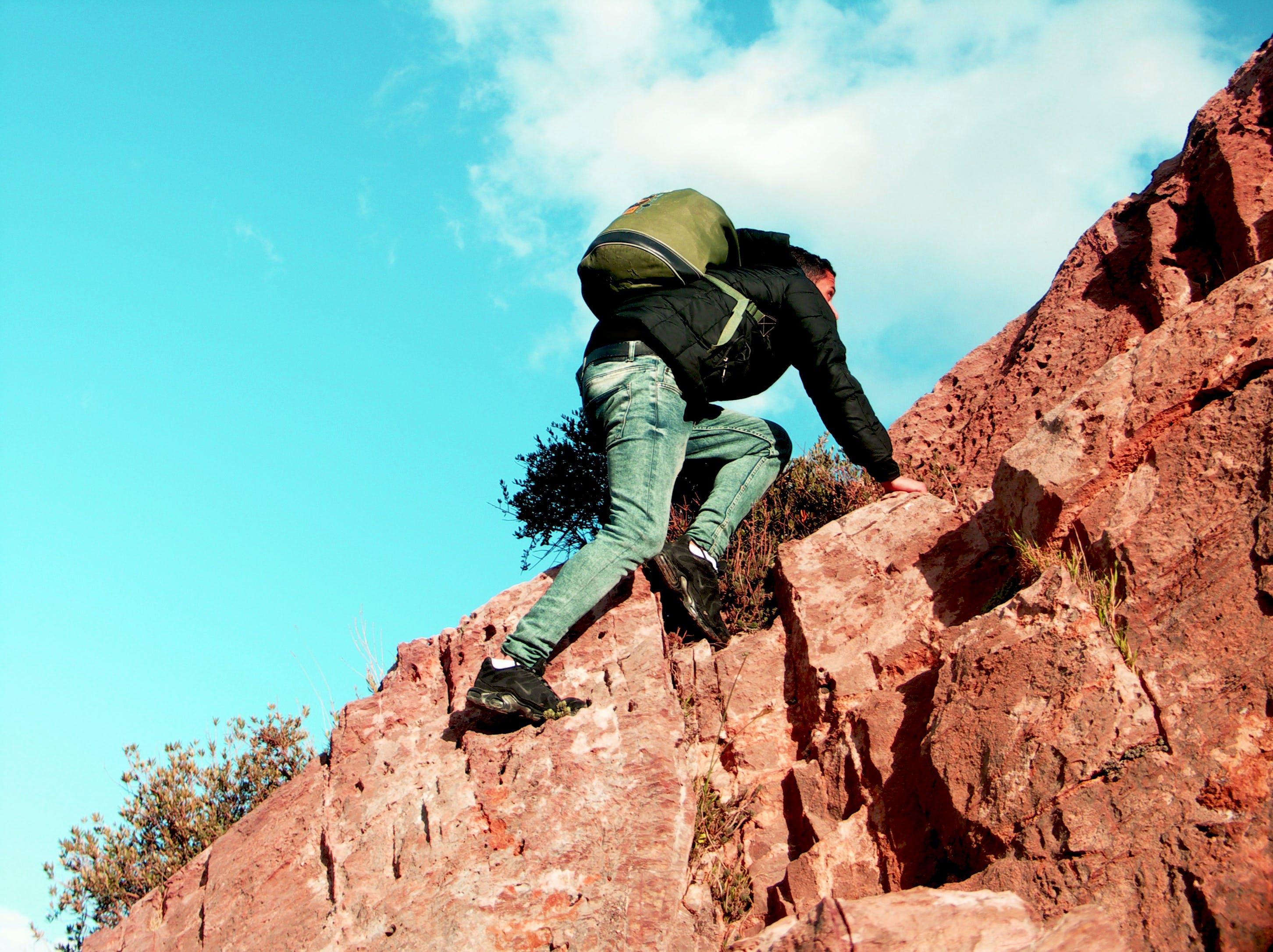 Free stock photo of balance, cliff, fatigue, grass