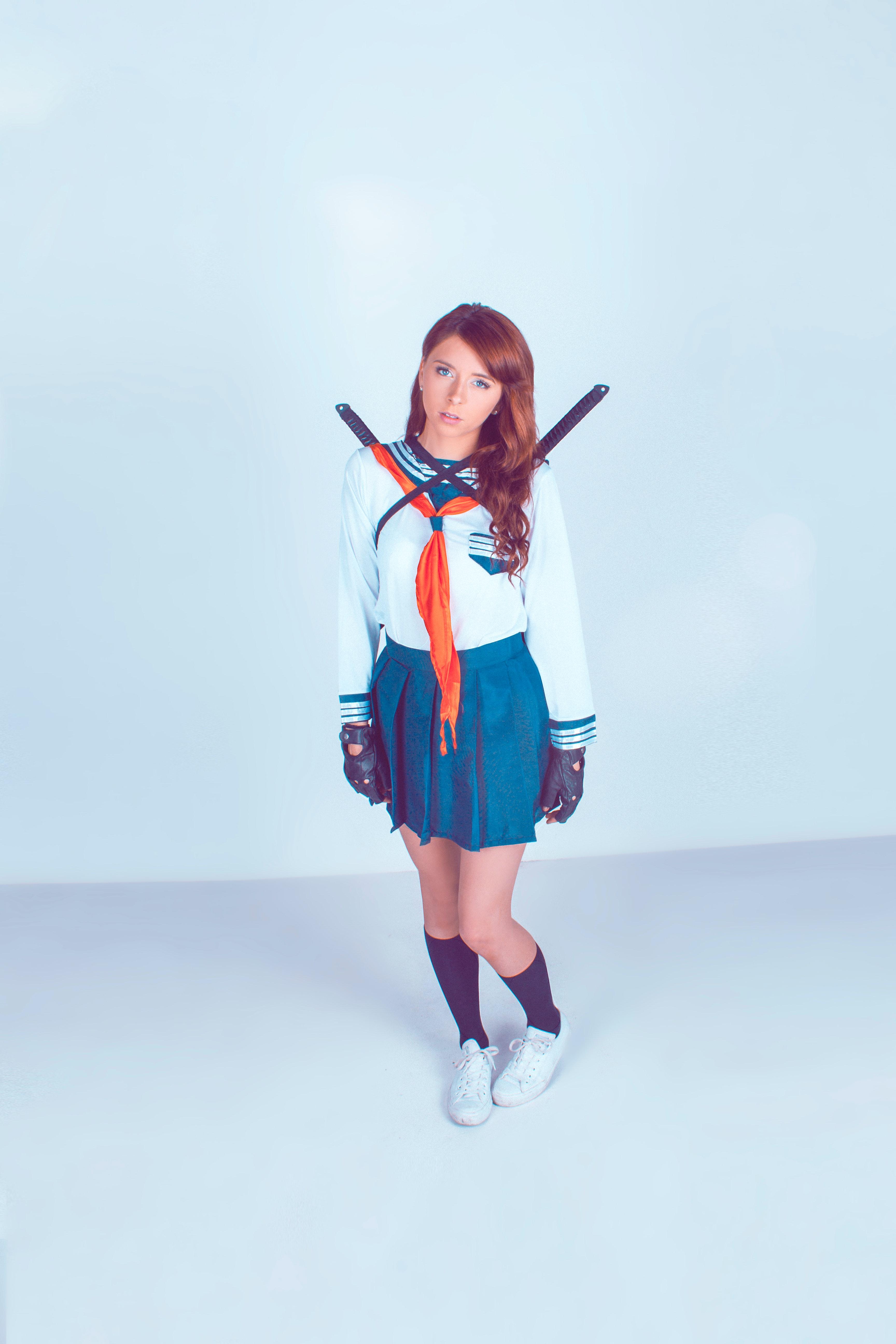 Free stock photo of cosplay, Japanese school uniform