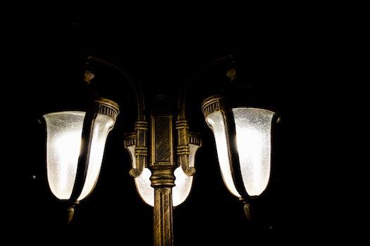 Gold Post Lamp