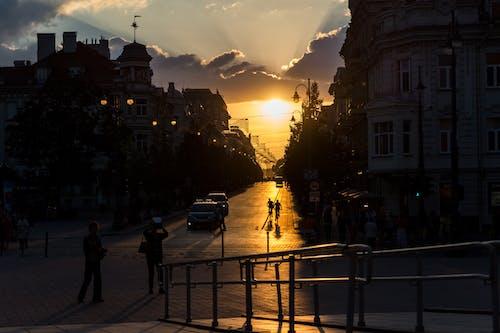 Free stock photo of evening sky, evening sun, lithuania