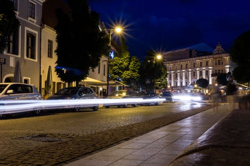 Free stock photo of lights, lithuania, long exposure, night