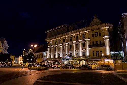 Ingyenes stockfotó éjszaka, építészet, épület, fények témában