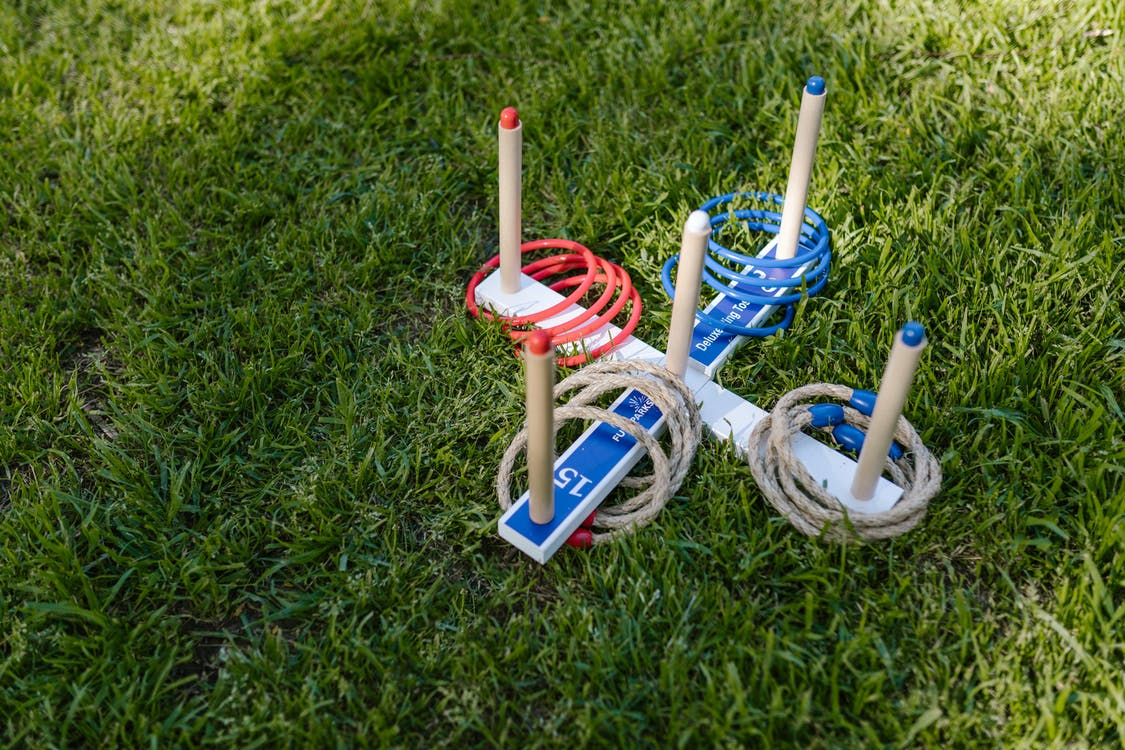 Ring Toss Game On Green Grass