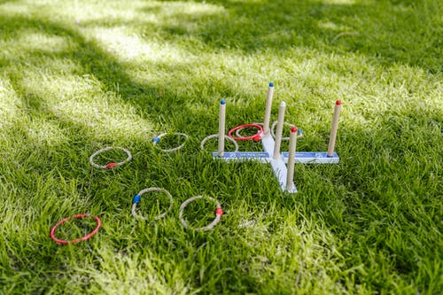 Ring Toss Toy On Grass