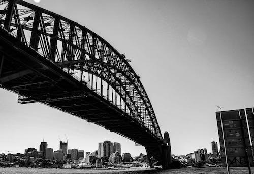 Long Bridge Made of Steel