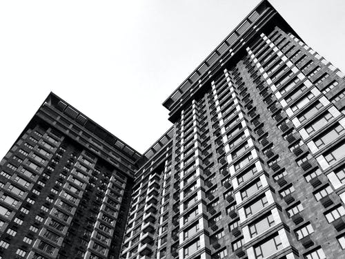 Low-Angle Shot of a Residential Building