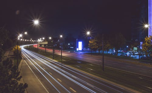 Δωρεάν στοκ φωτογραφιών με lodz, αυτοκίνητα, Νύχτα, πόλη