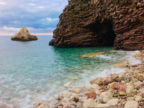 Beach Shore Near Cave