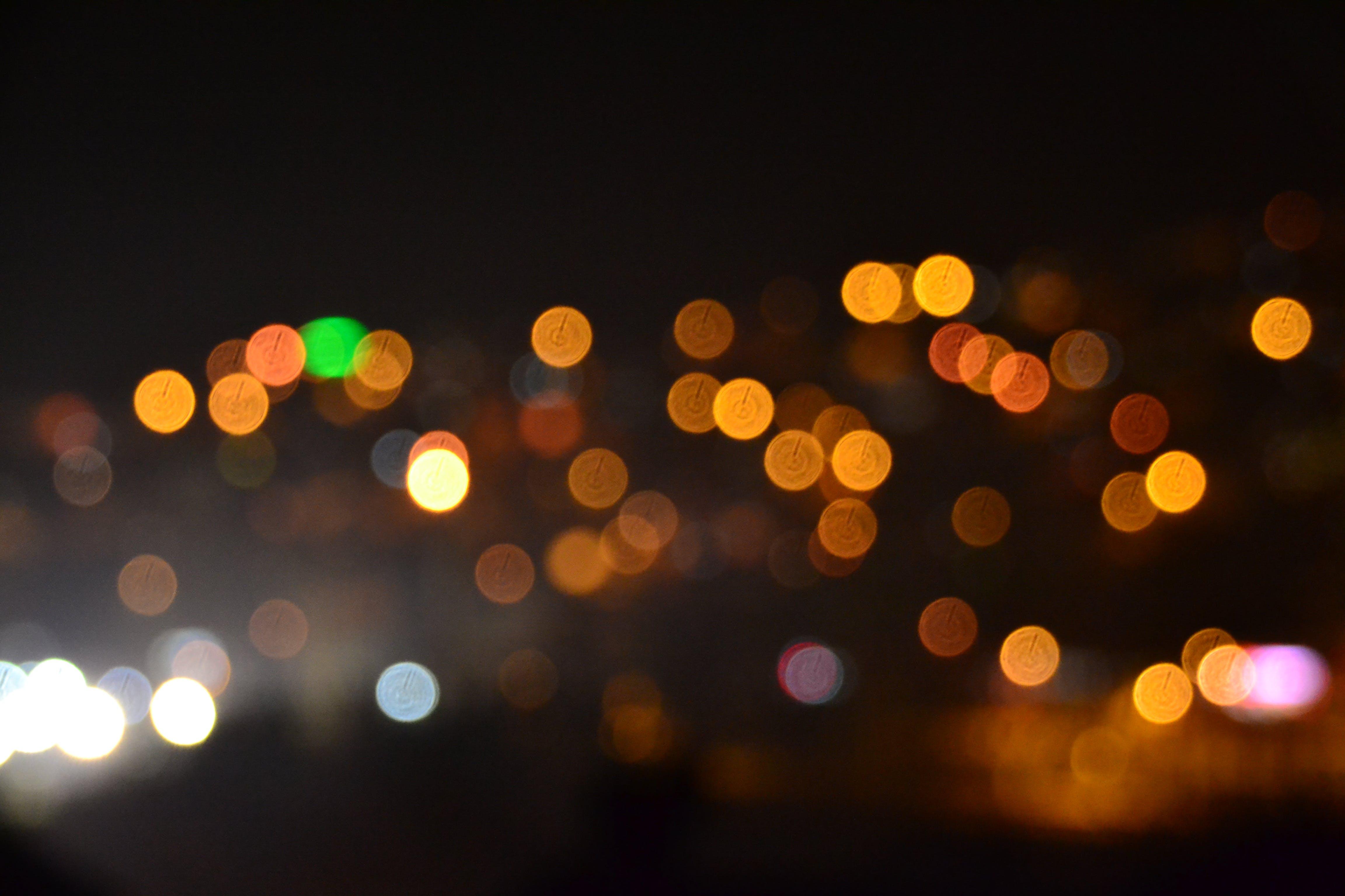 Free stock photo of blur, bokeh, colors, dark