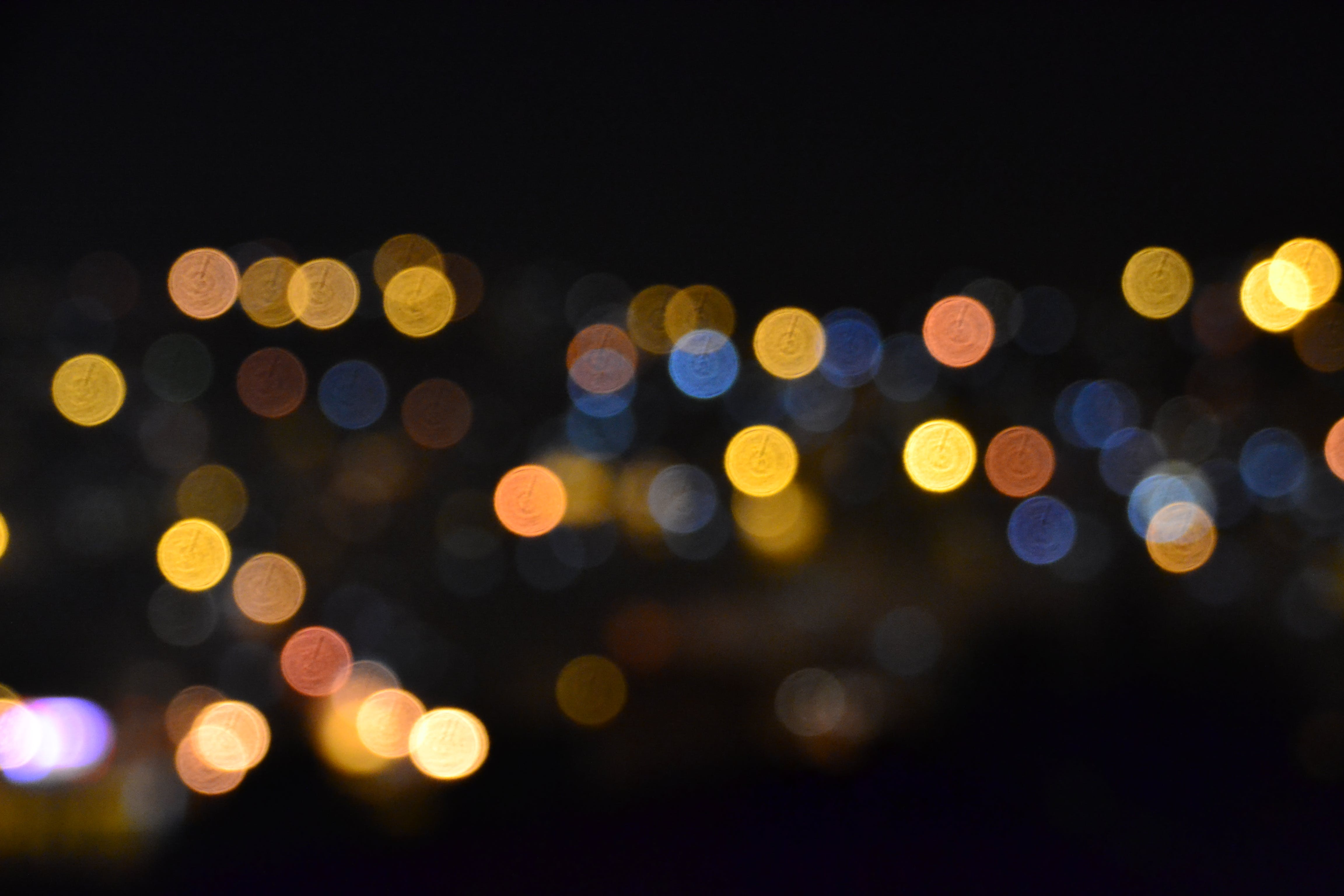 Free stock photo of blurred, bokeh, dark, lights