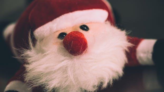 Red and White Ceramic Santa Claus Figurine · Free Stock Photo