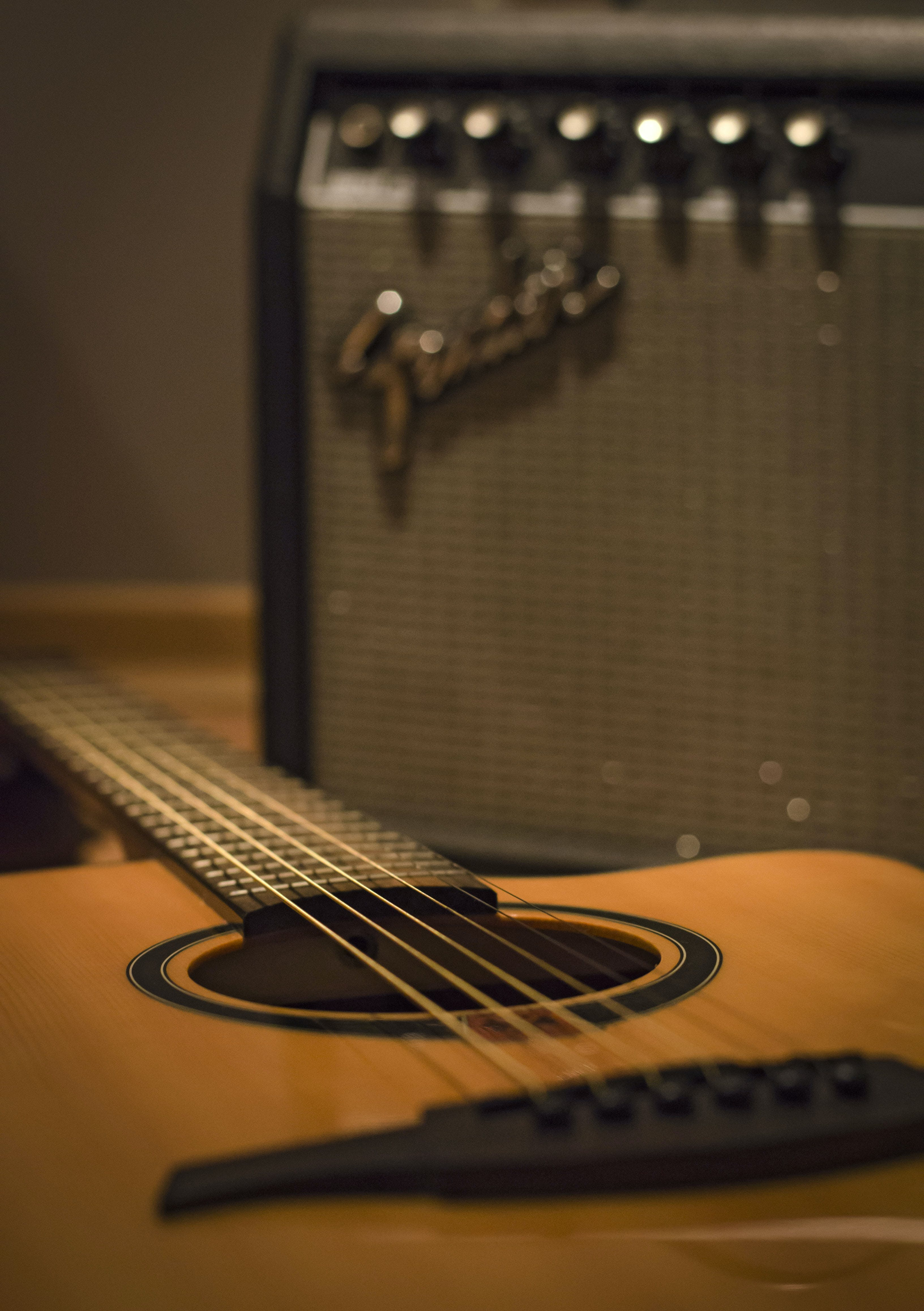 Free stock photo of acoustic guitar
