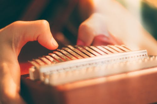 Person Holding White and Brown Piano