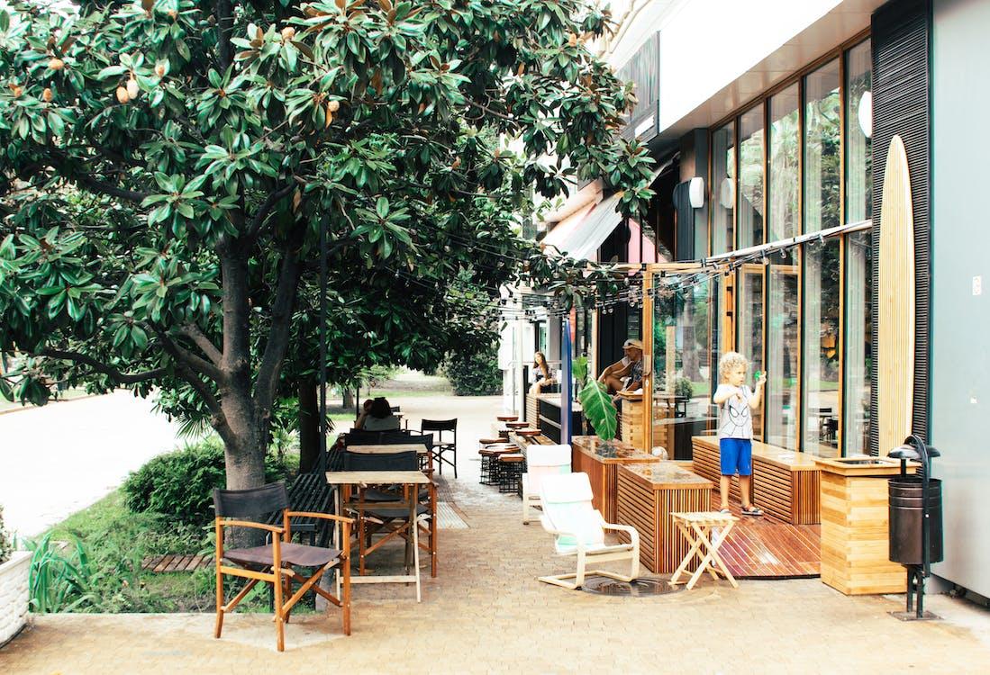 cafe, Άνθρωποι, βεράντα
