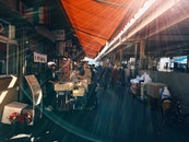 people, street, market