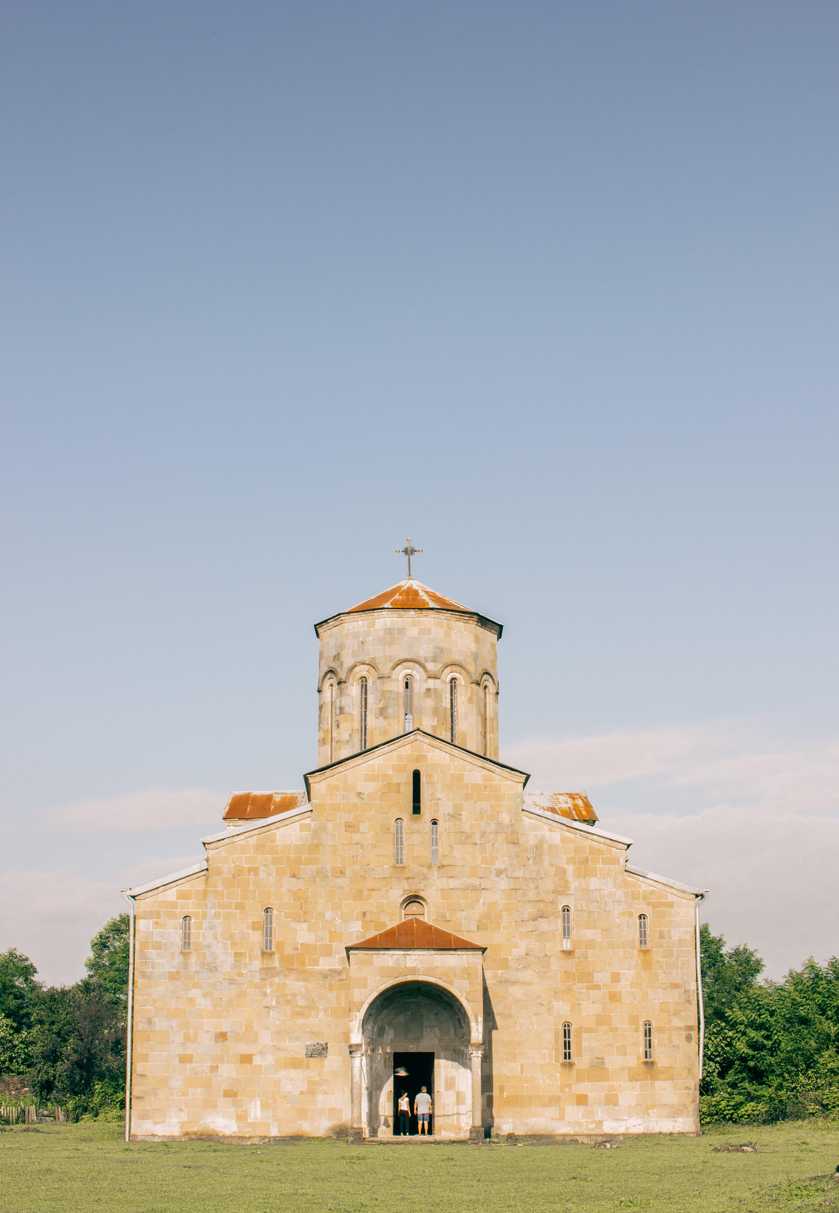 Brown and Orange Church