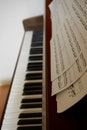 piano, musical instrument, music notations