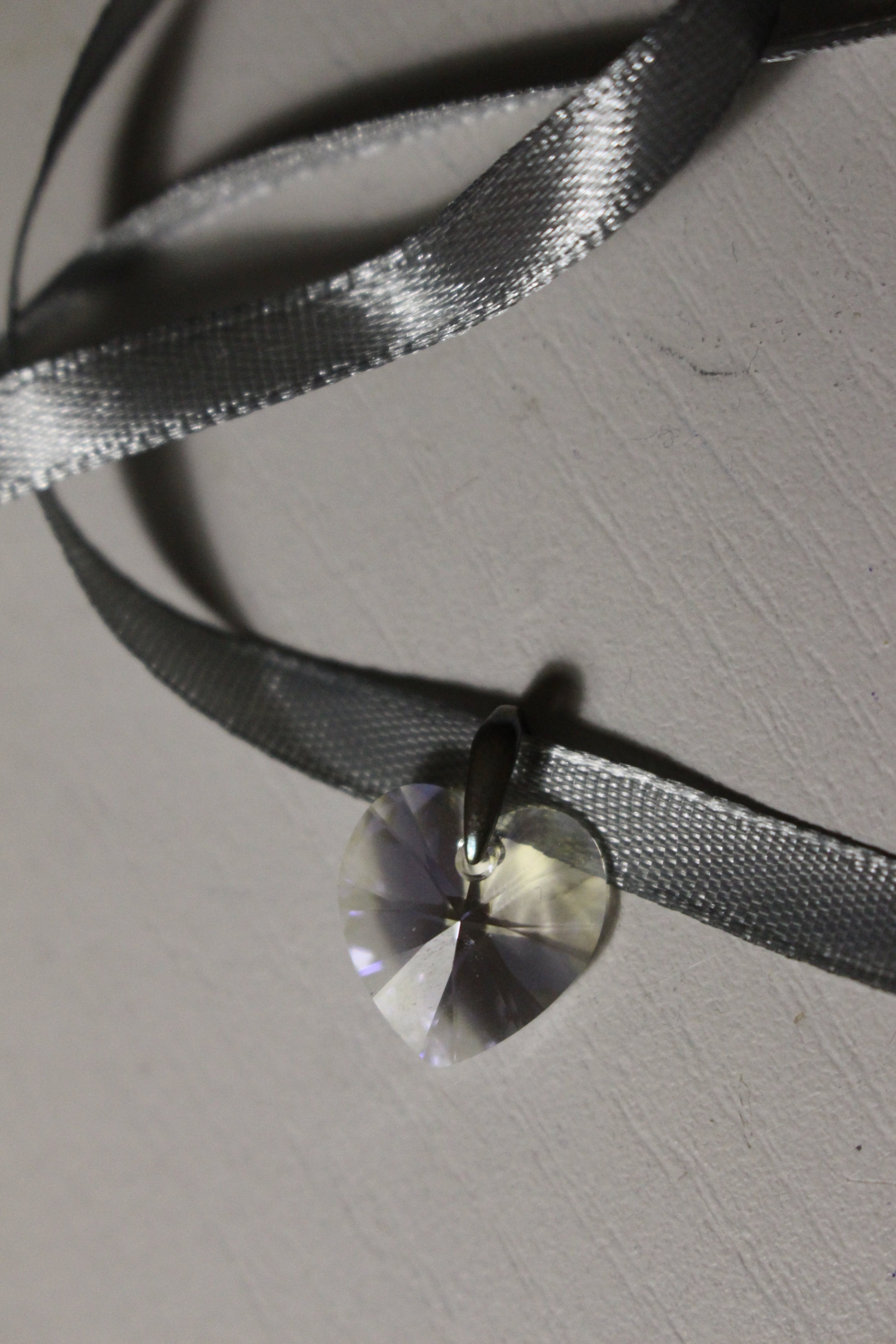 Free stock photo of heart, silver, necklace, ribbon