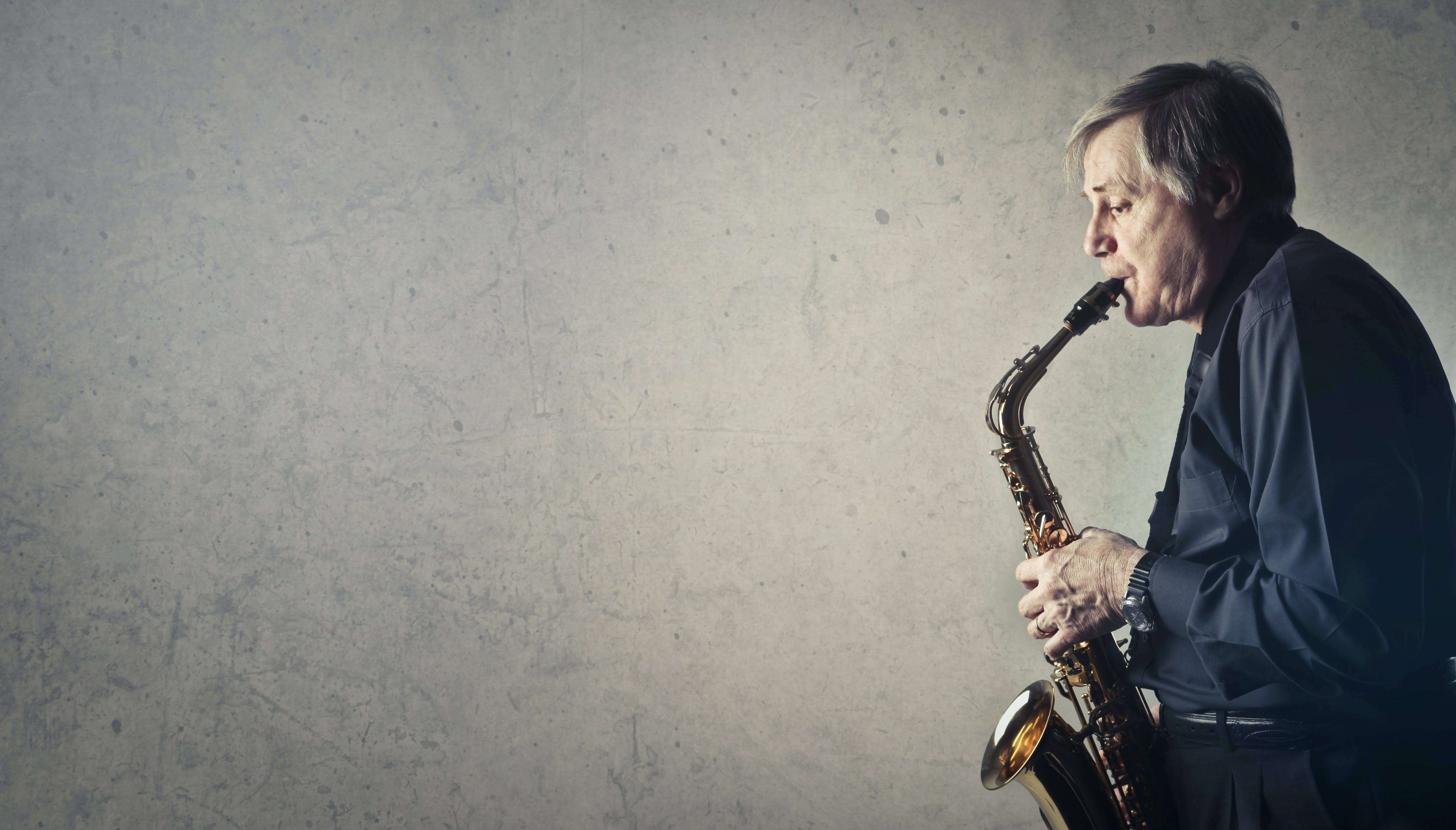 Man Playing Saxophone