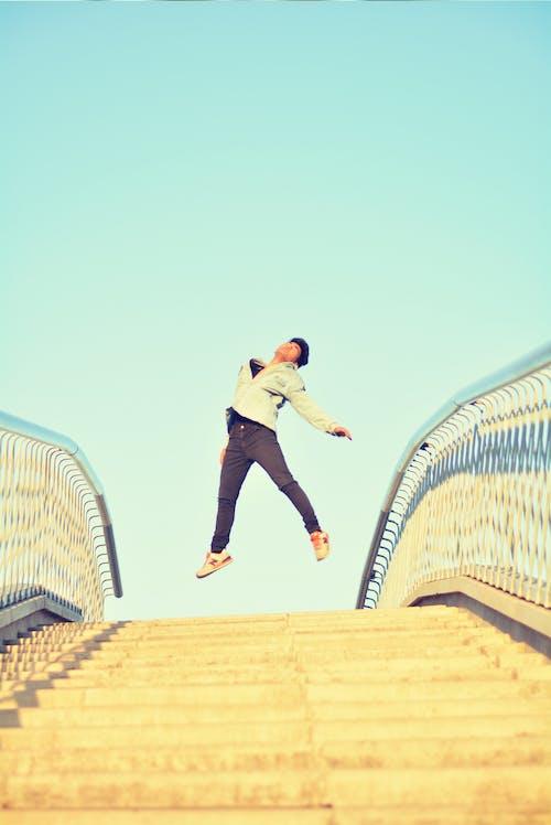 ジャンプ, ジャンプショット, ダンス, ブリッジの無料の写真素材