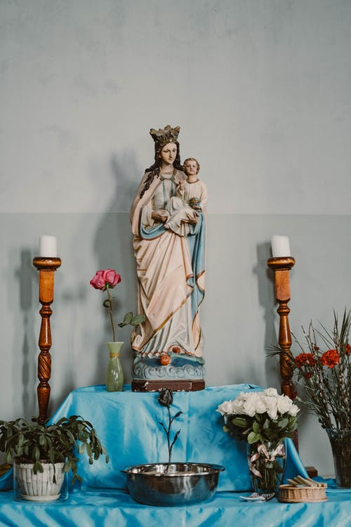 Virgin Mary and Jesus Christ Figurine