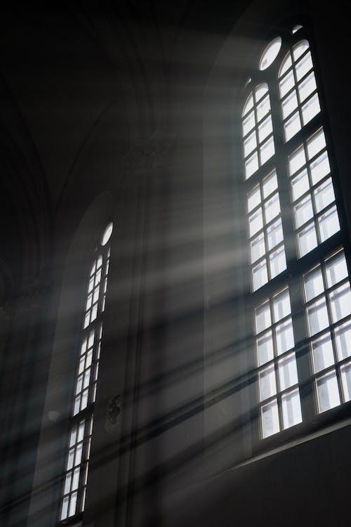 Sun Rays Through Church Windows