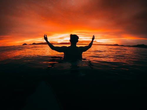 Photos gratuites de à contre-jour, aube, bord de mer