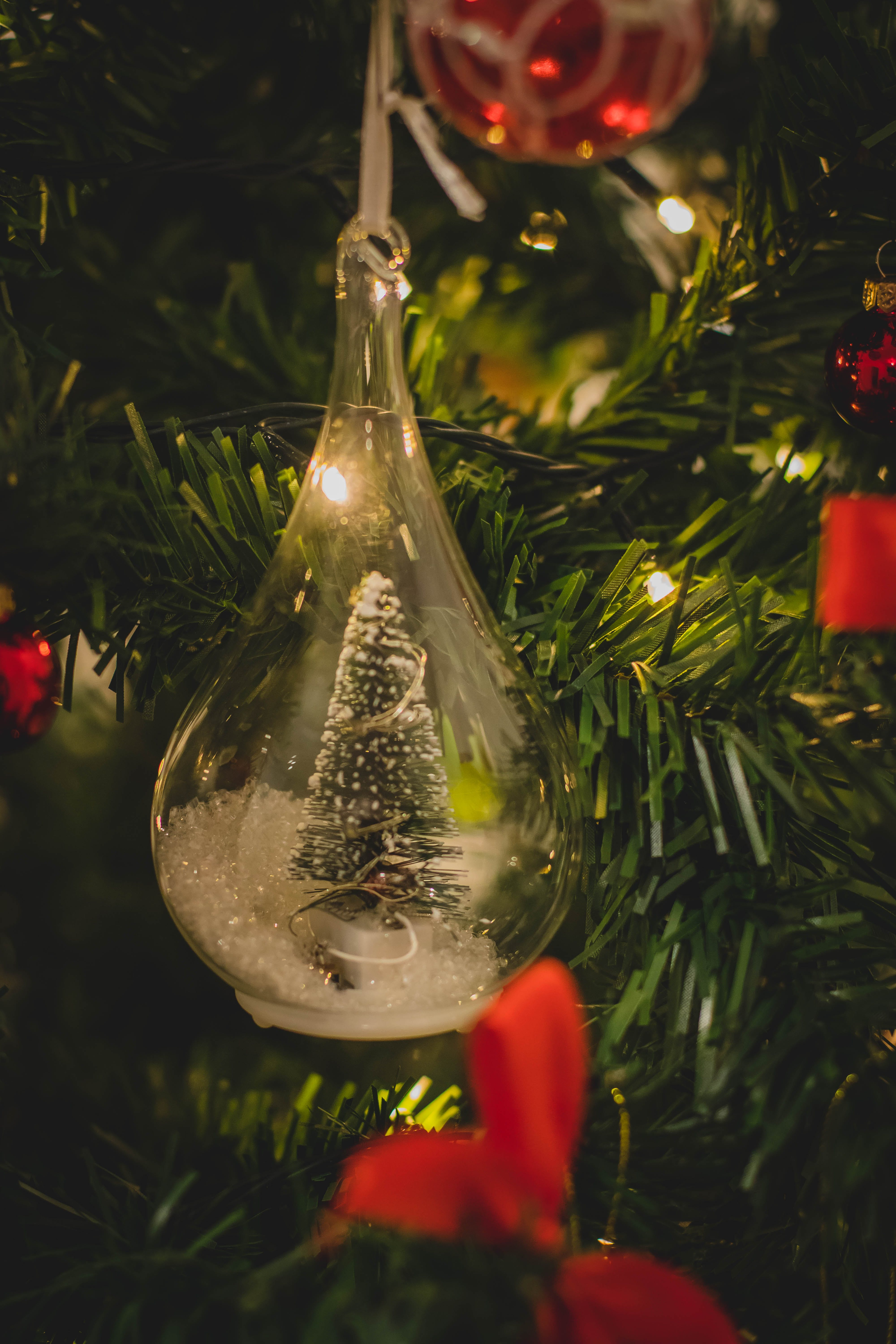 Clear Glass Hanging Decor