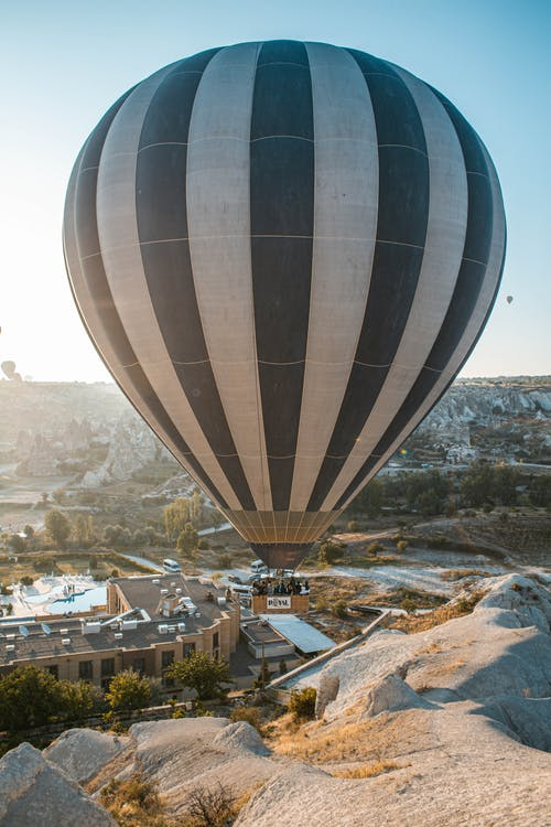 Black and Brown Hot Air Balloon