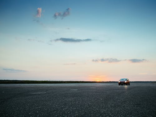 Free stock photo of airport, asphalt, car, clouds