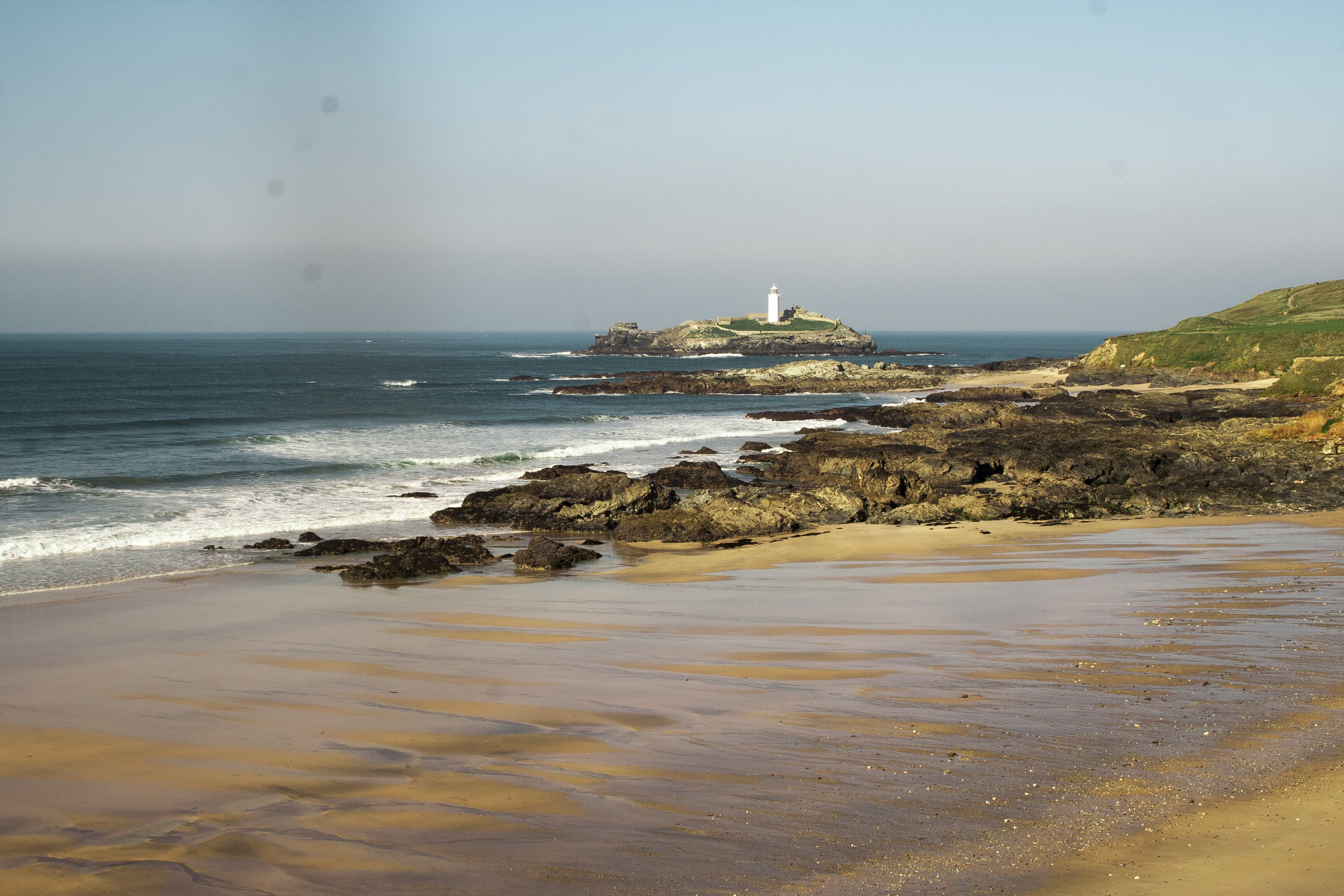 Free stock photo of beach, blue water, cornwall, lighthouse