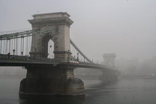 Free stock photo of bridge, budapest, mist