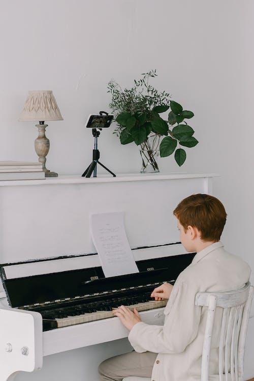 คลังภาพถ่ายฟรี ของ การพักผ่อนหย่อนใจ, กำลังเล่นเปียโน, ความสามารถ