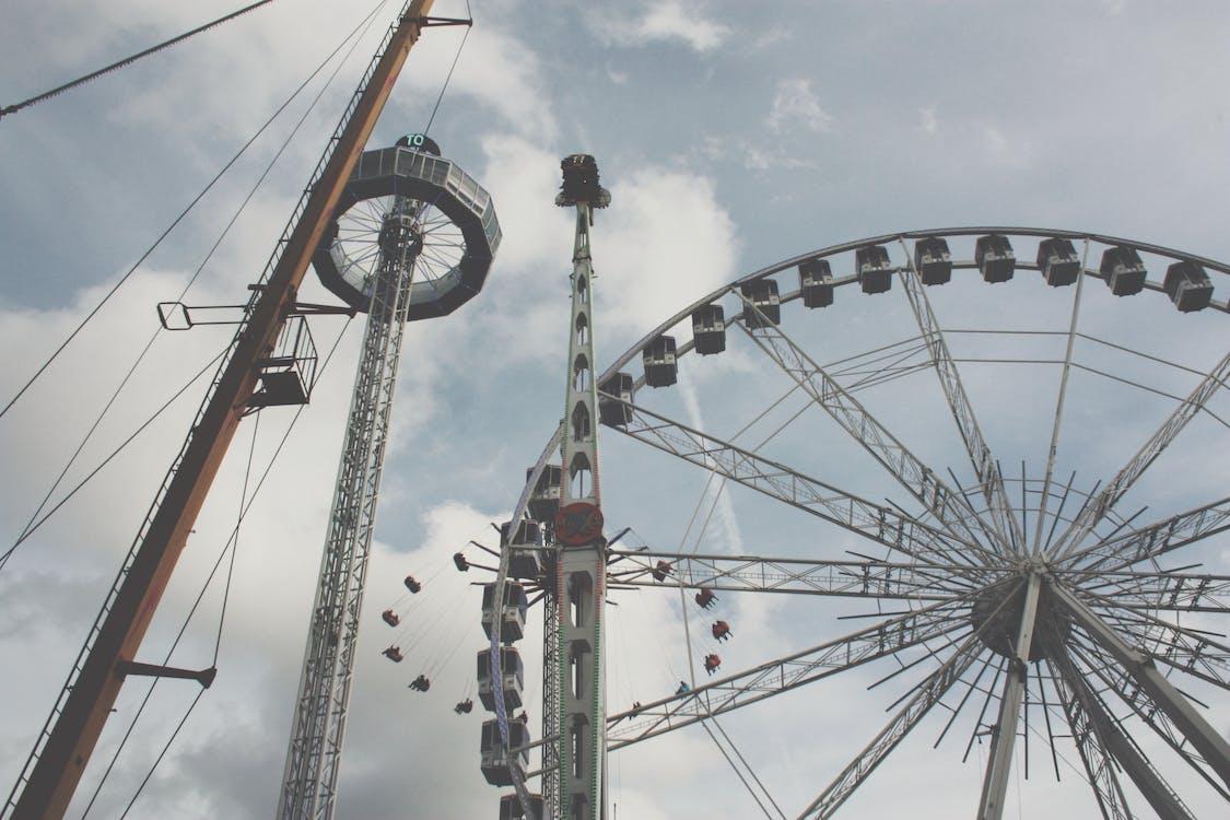 Several Amusement Park Rides Photo