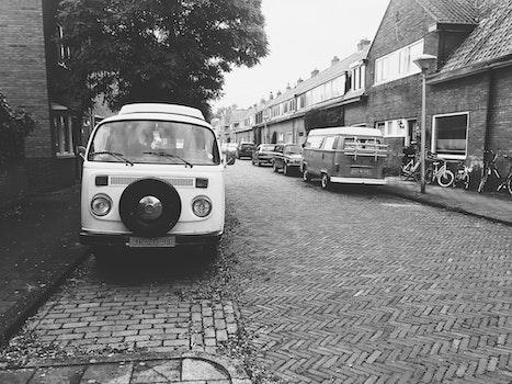 Monochrome Photo of the Street