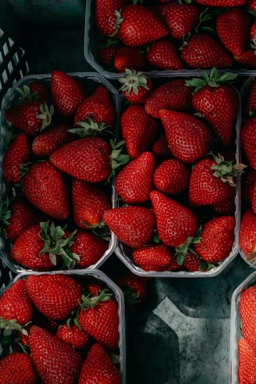 과일, 딸기, 머리 위로의 무료 스톡 사진