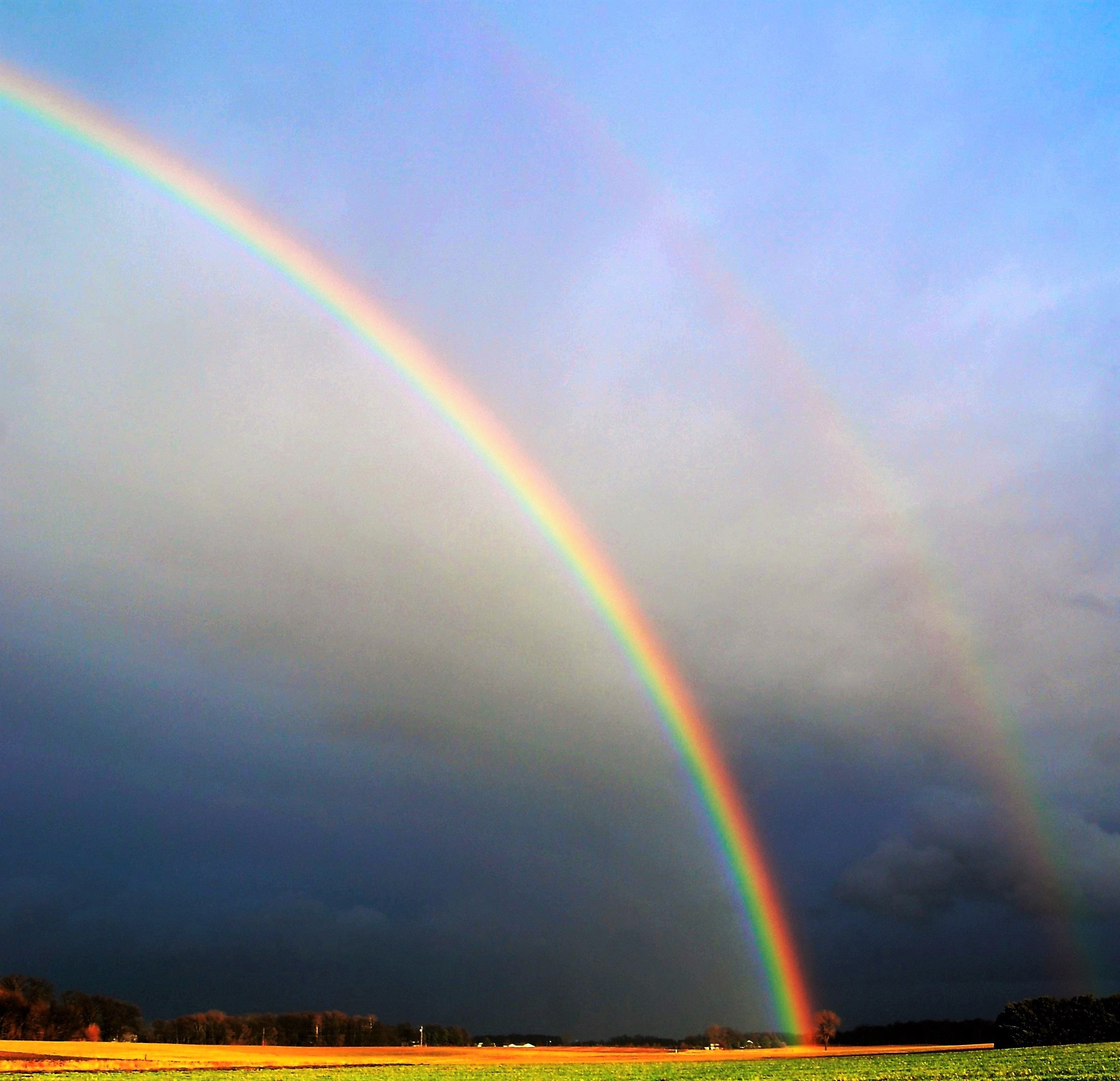 Photography Of Rainbow During Cloudy Sky 183 Free Stock Photo