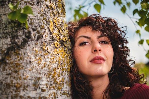 Free stock photo of 50mm, beautiful girl, birch tree