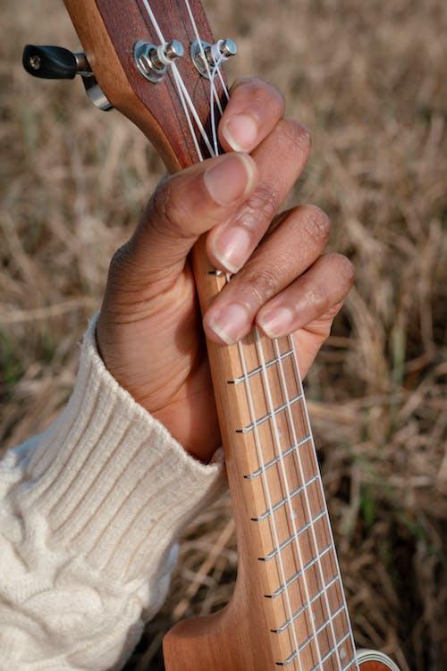 Close-Up Photo of a Person Holding Ukulele