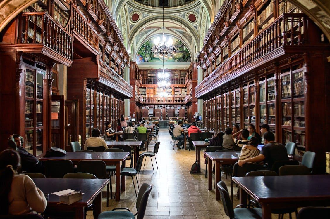 architectuur, bibliotheek, boeken